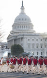 Colonial Troops Parade at U.S. Capitol Royalty Free Stock Images