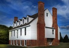 Colonial Virginia. Old home with much history in Surry County, Virginia Stock Photography