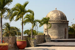 Colonial Wall of Cartagena de Indias. Colombia royalty free stock images