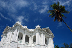 Colonial White Building in Seremban stock image