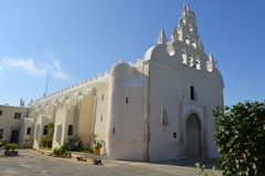 Colonial white washed church, Merida, Yucatan Stock Images