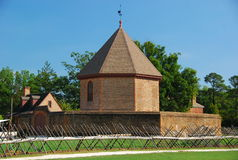 Colonial Williamsburg. Here is a picture of an armory located in the heart of Colonial Williamsburg Royalty Free Stock Photo
