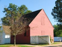 Colonial Williamsburg. A old historic barn in colonial williamsburg virginia (a tourist attraction Stock Photos