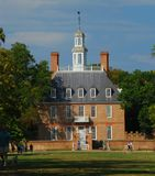 Colonial Williamsburg. Here is the Governor's house in Colonial Williamsburg Virginia Royalty Free Stock Image