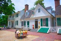 Colonial Williamsburg de chapellerie Photos libres de droits