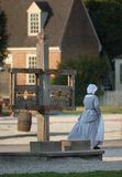 Colonial Williamsburg reenactor Royalty Free Stock Images