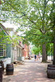 Colonial Williamsburg Street Scene Royalty Free Stock Photography