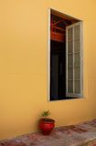 Colonial Window. In the courtyard of a restaurant royalty free stock photos