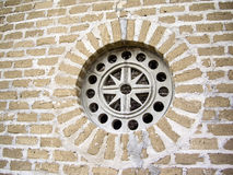 Colonial window on wall in Mexico Royalty Free Stock Photo