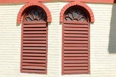 Colonial windows at Vinales Royalty Free Stock Photo