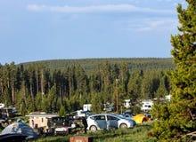 Colonie de vacances au parc national de Yellowstone Photographie stock libre de droits