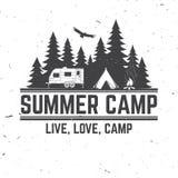 Colonie de vacances Illustration de vecteur Concept pour la chemise ou le logo, la copie, le timbre ou la pièce en t