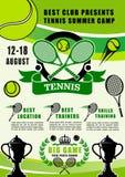 Colonie de vacances de sport de tennis, club s'exerçant illustration libre de droits