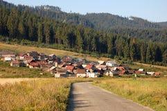 Colonie gitane en Slovaquie Photo stock