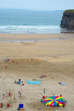 Colonies de vacances sur la plage de ballybunion Photo libre de droits