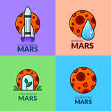 Planet Mars , vector illustration Royalty Free Stock Photos