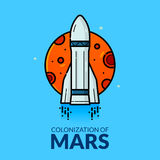 Colonization of Mars vector illustration Stock Images