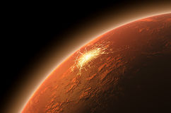 Colonizzazione di Marte Immagine Stock