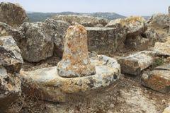 Colonna antica agli scavi Fotografia Stock Libera da Diritti