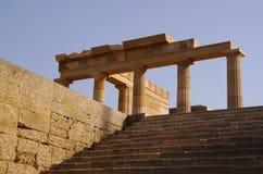 Colonna antica in Lindos Immagine Stock