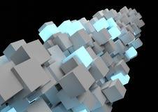Colonna astratta del cubo Fotografia Stock