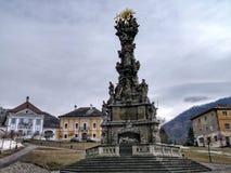 Colonna barrocco di peste Colonna della trinit? santa costruita sull'epidemia di peste ? stato costruito nel 1765-72 In Kremnica immagine stock