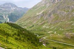 Colonna de l'Iseran (alpi francesi), ad estate Fotografia Stock Libera da Diritti