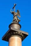 Colonna del Alexander. Angelo. Fotografia Stock Libera da Diritti