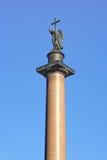 Colonna del Alexander a St Petersburg Fotografie Stock Libere da Diritti