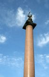 Colonna del Alexander sul quadrato St Petersburg del palazzo Fotografie Stock Libere da Diritti