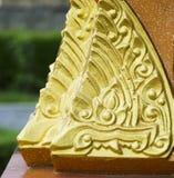 Colonna del bordo della Tailandia della scultura Immagine Stock Libera da Diritti