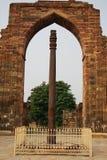Colonna del ferro di Delhi Fotografia Stock Libera da Diritti