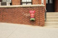 Colonna del fuoco su un muro di mattoni Fotografie Stock