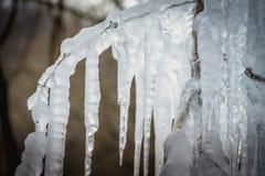Colonna del ghiaccio di Oonichi fotografia stock libera da diritti