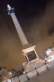 Colonna del Nelson, quadrato di Trafalgar, Londra, Regno Unito Immagini Stock