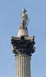 Colonna del Nelson sul quadrato di Trafalgar Immagini Stock