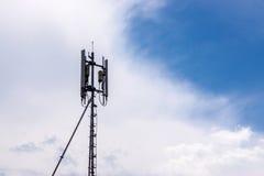 Colonna del segnale di telefono Immagine Stock Libera da Diritti