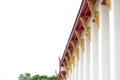COLONNA DEL TEMPIO TAILANDESE Fotografie Stock