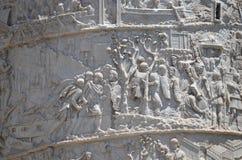 Colonna del Trajan del particolare. Immagine Stock