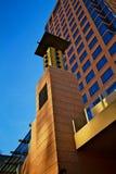 Colonna dell'entrata della costruzione Fotografie Stock