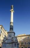 Colonna dell'immacolata concezione Roma fotografie stock libere da diritti
