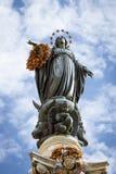 Colonna della concezione immacolata, Roma immagine stock libera da diritti