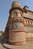 Colonna della fortificazione di Gwalior Fotografia Stock Libera da Diritti