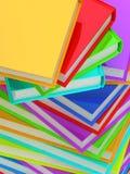 Colonna della priorità bassa dei libri. illustrazione di stock