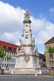 Colonna della trinità santa di Budapest nel distretto del castello Fotografia Stock