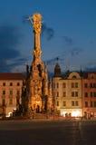 Colonna della trinità santa in Olomouc Fotografie Stock