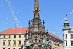 Colonna della trinità santa, Olomouc immagine stock