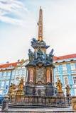 Colonna della trinità santa a Praga, repubblica Ceca immagini stock libere da diritti