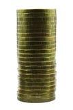 Colonna delle monete Immagine Stock