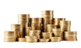 Colonna delle monete dorate Immagine Stock